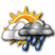 Mostly Cloudy with Scattered Showers